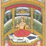 Lalita seated on Sadasiva