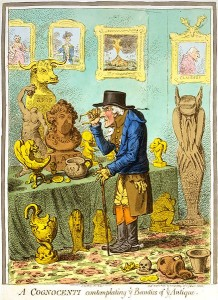 James Gillray - A Cognocenti Contemplating Ye Beauties of Ye Antique