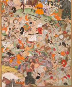 "detail from ""Akbar Watches a Battle between Two Rival Groups of Saṃnyāsīs at Thaneshwar"""